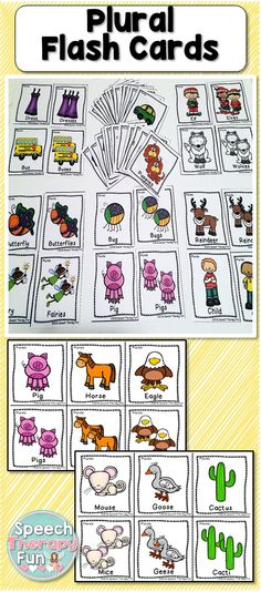 This set includes regular and irregular plurals. Specifically, irregular plurals include –es, -ies, f to -ves, y to -ies and more!