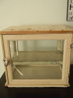 Vintage Barbers Case Cupboard by FleaMarketQueen on Etsy, $125.00