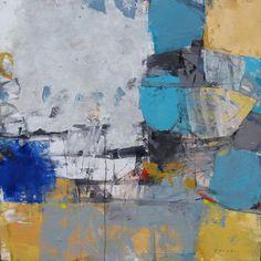 Japanese contemporary artist Kaz Orii's abstract oil painting, Akko Art Gallery