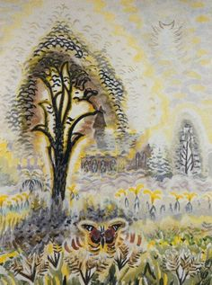 "Charles Burchfield, ""The Red Admiral"" 1962"