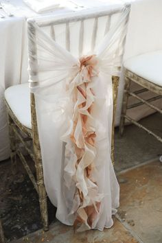 Sweet and Romantic Chair covers #wedding Photography by phyllislane.net/, Event Planning