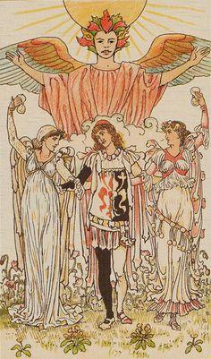 VI. The Lovers - Harmonious Tarot by Walter Crane, Ernest Fitzpatrick