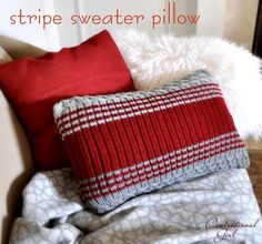 repurpose sweaters into pillows !