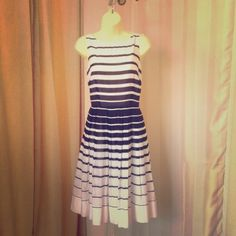 Talbots Striped Dress Fantastic easy to wear dress! Light weight and perfect for hot summer nights! New with tags. Never worn, just needs to be pressed. Talbots Dresses