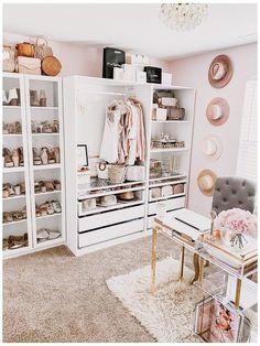 Bedroom Closet Design, Room Ideas Bedroom, Closet Designs, Wardrobe Design, Office Designs, Dressing Room Decor, Dressing Room Design, Dressing Room Closet, Dressing Rooms