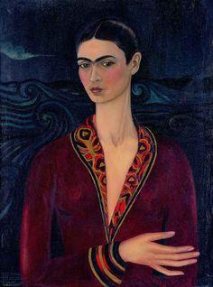 Frida Kahlo - Autoritratto con vestito di velluto, 1926 Olio su tela, cm 79,7 × 59,9 Collezione privata