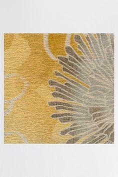 Chrysanthemum Yellow Rug | Machine Washable Area Rug | Ruggable