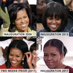 Michelle's Inauguration Hair Was The Side Eye Every Black Girl Understood 😒🙄 http://www.glamazini.com/michelle-obama-inauguration-hair/