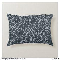 Dark grey pattern accent pillow Soft Pillows, Accent Pillows, Throw Pillows, Grey Home Decor, Grey Cushions, Grey Pattern, Decorative Cushions, Dark Grey, Soft Fabrics