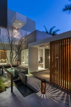 Modern House Design & Architecture : Contemporary three level home on Amwaj Island Bahrain Architecture Design, Contemporary Architecture, Contemporary Houses, Contemporary Decor, Contemporary Building, Contemporary Apartment, Contemporary Wallpaper, Contemporary Chandelier, Landscape Architecture