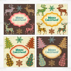 Patterned Christmas card backgrounds!