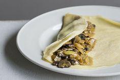 Savoury crepes with mushrooms sour creme – Recipes – Bite