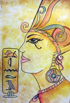 Egyptian Party : Activity Idea : Egyptian portrait painting : Artsonia School