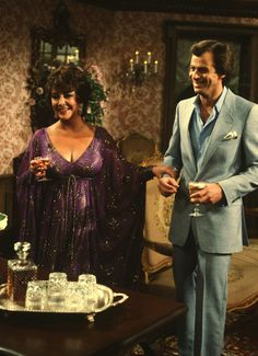 """GENERAL HOSPITAL - 11/16/81  Elizabeth Taylor (pictured here with Tristan Rogers as Robert Scorpio) portrayed Helena Cassadine, the vengeful and rich widow of mad scientist Mikkos, for a five-show guest stint in late 1981, on ABC Daytime's """"General Hospital"""". """"General Hospital"""" airs Monday-Friday, 3-4 p.m., ET, on the ABC Television Network. GH81 (American Broadcasting Companies, Inc.) ELIZABETH TAYLOR, TRISTAN ROGERS"""