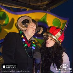 Nathan & Krista Allen reign as monarch in the Krewe of Orpheus' Lundi Gras parade in New Orleans 2016