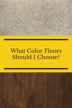 There are many different floor options, styles, designs and colors. So much, that it can be overwhelming. You may be asking yourself 'What color floors should I choose?' If you are asking yourself this, then you need to check out this guide. Flooring 101, Flooring Options, Floors, Choose Me, Finding Yourself, Check, Home Tiles, Flats, Floor