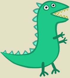 Use as template for pin the tail on mr dinosaur pepa for Pin the tail on the dinosaur template