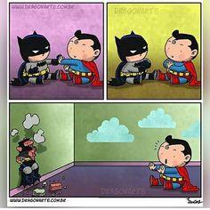 Hilarious repost from @dragon_arte -- #BatmanVSuperman #Batman #Superman