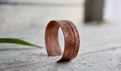 Cuff Bracelet, Copper cuff, Bangles, Wrist jewelry, Custom, Copper cuff, Hammared, Stacking, Chic, Fashion, For Him, For her, Wedding gift by Oniroteo on Etsy https://www.etsy.com/listing/170007447/cuff-bracelet-copper-cuff-bangles-wrist