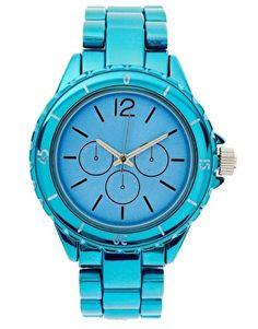 Neon Blue Watch <3