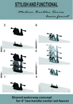 Shared waterway concept for two handle center set faucet Lavatory Faucet, Handle, Concept, Movies, Poster, Films, Cinema, Movie, Film