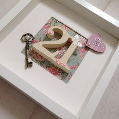 Handcrafted, personalised 21st birthday keepsake in a vintage style by janieBcrafts