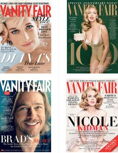 Noted: New Logo for Vanity Fair by Commercial Type I adore the cover with Nicole Kidman. It is so beautiful!