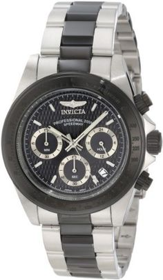 Invicta Men's 6934 Speedway Collection Chronograph Black and Silver Stainless Steel Watch Invicta. $74.80. Save 83%!
