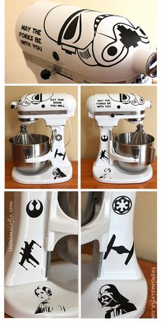 Star Wars Storm Trooper Kitchen Aid Mixer (tutorial) #TheKimSixFix