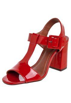 23f7a16bb Sandália My Shoes Vermelha - Compre Agora | Dafiti Brasil Escarlate, Fivela,  Sexta,