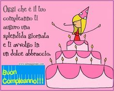 Oggi che è il tuo compleanno ti auguro splendida giornata