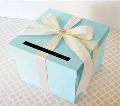 Wedding Card Box Tiffany Aqua Blue