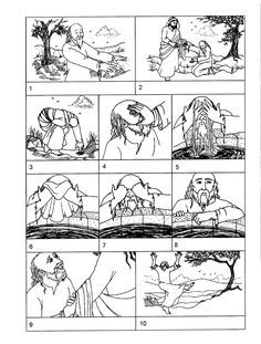Jesus heals man BLIND FROM BIRTH. This a a coloring page that can also be used as a sequence game. FREE PRINTABLES & IDEAS @ http://www.saltydiamonds.com/StationJesusSalvation.html