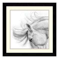 ''Flair'' Horse Framed Wall Art, Black