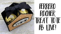 Quick treat bags for Halloween with A Little Something from Stampin' Up! Halloween Treat Boxes, Up Halloween, Halloween Cards, Halloween Treats, Ferrero Rocher, Halloween Taschen, Tea Party Crafts, Envelope Punch Board Projects, Circle Crafts