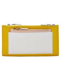 Smythson Panama Colorblock Multi-Zip Wallet