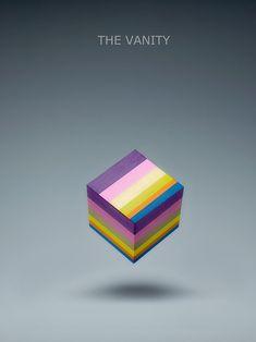 As cores dos sentimentos em forma de cubo