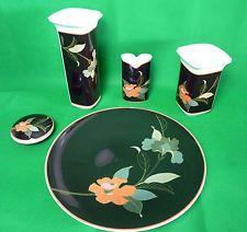 Hutschenreuther LEONARD PARIS Decor 'Tropica' Collection Vase Pot Plate