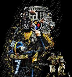 Steelers Meme, Steelers Pics, Steelers Stuff, Pittsburgh Steelers Players, Football Team, Big Ben Bell, Steelers Terrible Towel, Steeler Nation, Sports Art