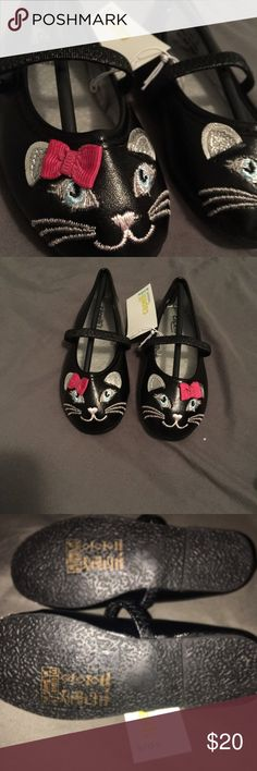Sz 6/7 baby/toddler shoes Super cute cat shoes!!  Capelli New York kids..  tag says 6/7 and length is true to size and width is medium to narrow Shoes