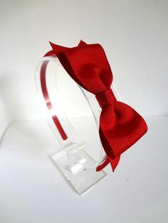Red Hair Bow Headband - Valentine's Headband. Girls Hair Accessory. Teen Headband. Adult Headband. Red Bow Headband. $8.25, via Etsy.