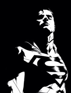 Black and White Superman