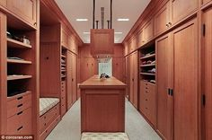 Who wouldn't want a walk in closet? If you're parting ways with almost $30 million you've probably got a fair wardrobe of finery to house too