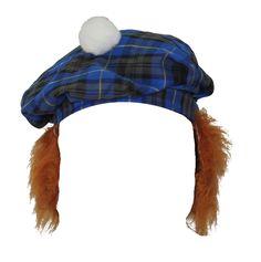 Details about Tartan Tam-O-Shanter With Ginger Hair Scotland Burns Night Hat  Fancy Dress 16c65891eb31
