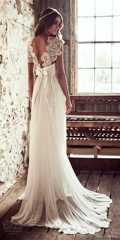 "Anna Campbell 2018 Wedding Dresses — ""Eternal Heart"" Bridal Collection anna campbell 2018 bridal cap sleeves sweetheart neckline heavily embellished bodice romantic soft a line wedding dress open v back sweep train bv — Anna Campbell 2018 Wedding Wedding Dress Chiffon, Bohemian Wedding Dresses, Dream Wedding Dresses, Bridal Dresses, Wedding Gowns, Lace Wedding, Wedding Vintage, Wedding Simple, Chiffon Dresses"