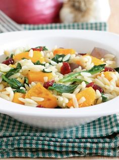 Roasted Butternut Squash Orzo Salad Recipe on twopeasandthierpod.com