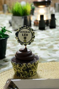 Cupcakes at a Army Party #army #partycupcakes