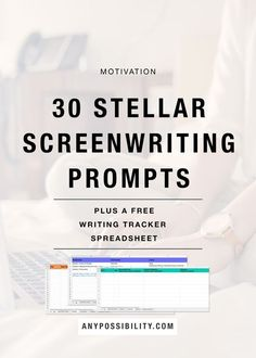 30 Stellar Screenwriting Prompts   Need some new ideas and inspiration? Check out these writing prompts to help you think of a short story, short film, movie idea, TV spec, or anything else. Plus, there is a free Writing Tracker Spreadsheet to help you keep track of your ideas! Filmmaking   Screenwriting   Film Industry   Filmmaker   Writing