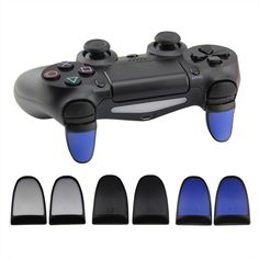 Double Color with rubber L2 R2 Extension Trigger For PS4 Controller 4pcs(3 Color)