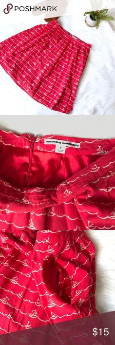 Brooklyn Industries boat print skirt Sz S Small Brooklyn Industries skirt. Sz small. Good condition. Brooklyn Industries Skirts